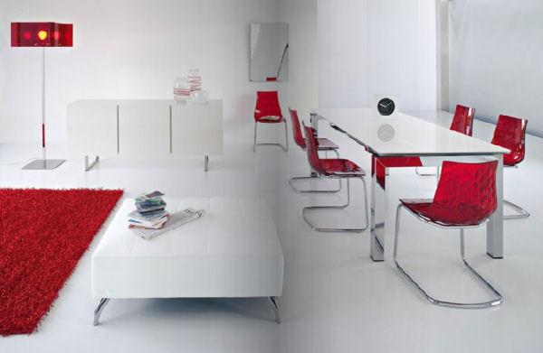 moderni stolove za trapezariq cherven cvqt bql interior