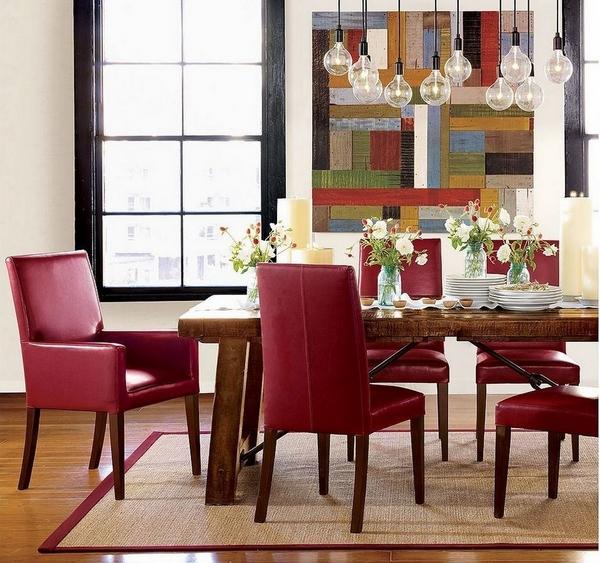 stolove za trapezariq cherveni kojeni moderni