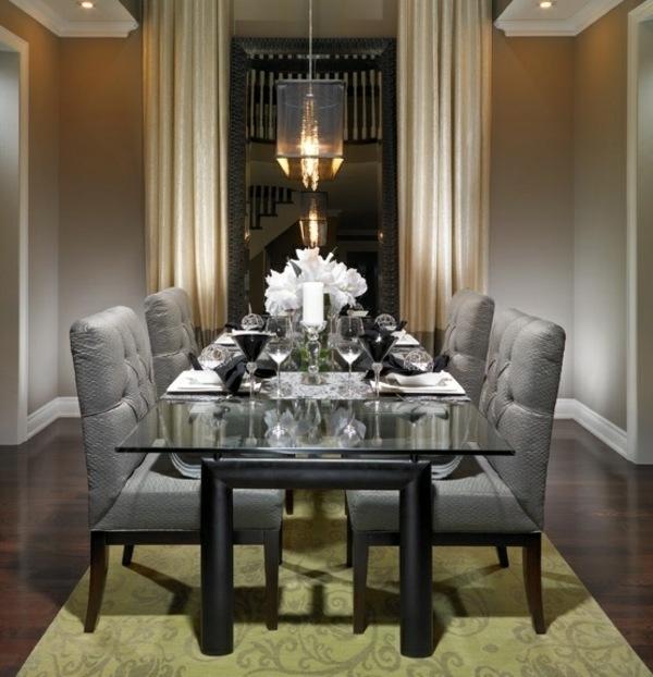moderni stolove za trapezariq plusheni siv cvqt iziskan interior