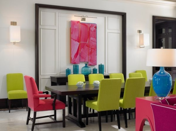stolove za trapezariq moderni rozovi zeleni cvetove
