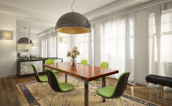 stolove za trapezariq moderni zeleni