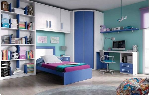 детска стая в синьо за момчета обзавеждане идеи