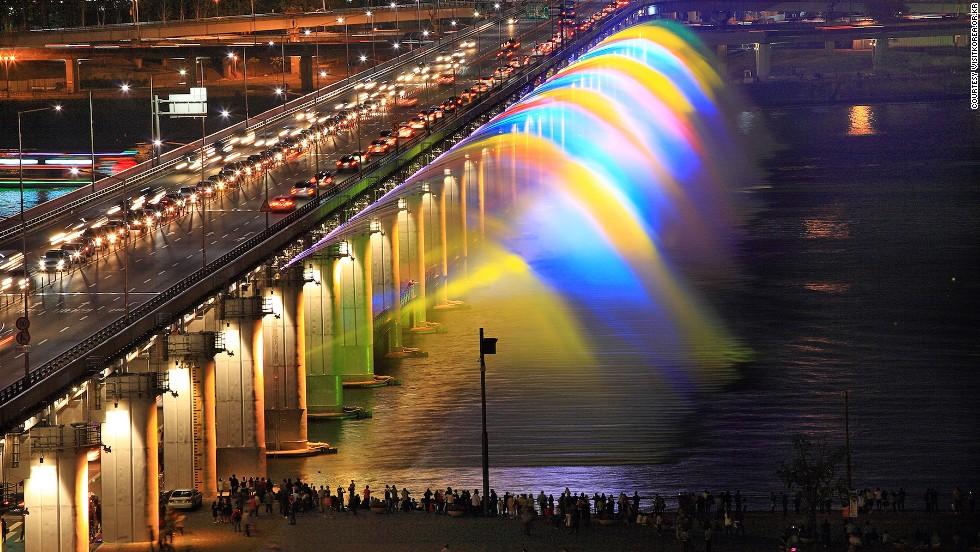 nai krasivite fontani po sveta banpo korea