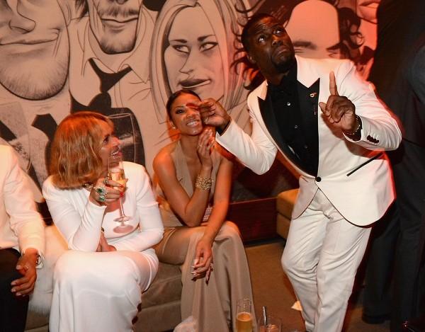 nai-zabavnite momeni ot oskar partito na vanity fair Beyoncé Eniko Parrish Kevin Hart