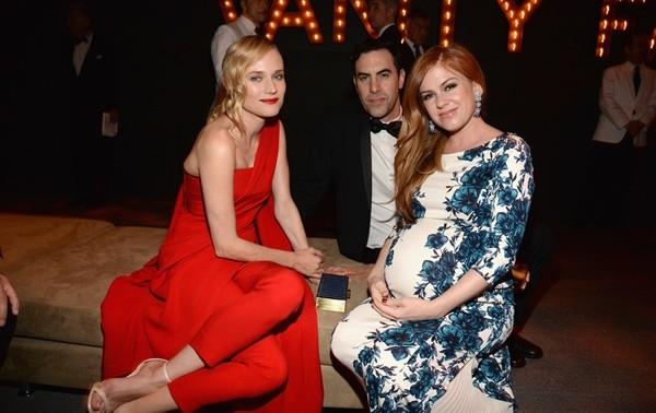 nai-zabavnite momeni ot oskar partito na vanity fair Diane Kruger Baron Cohen Isla Fisher
