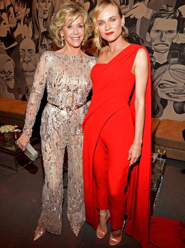 nai-zabavnite momeni ot oskar partito na vanity fair Jane Fonda Diane Kruger