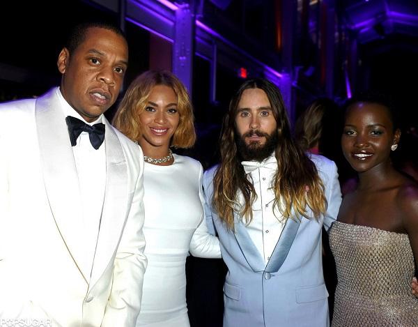 nai-zabavnite momeni ot oskar partito na vanity fair Jay-Z Beyoncé Jared Leto Lupita Nyongo