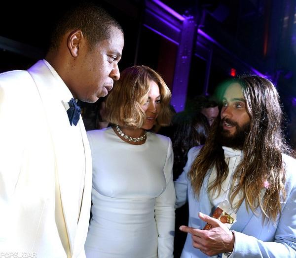nai-zabavnite momeni ot oskar partito na vanity fair Jay-Z Beyoncé Jared Leto