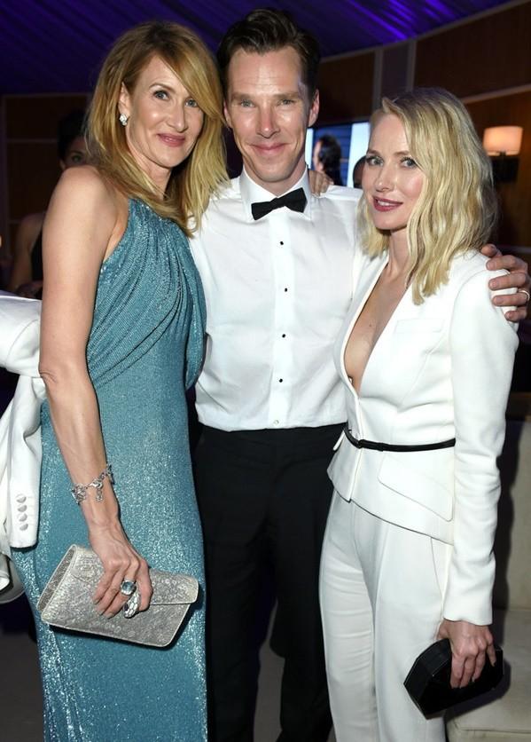 nai-zabavnite momeni ot oskar partito na vanity fair Laura Dern Benedict Cumberbatch Naomi Watts