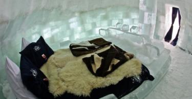 Хотел направен от лед в Румъния