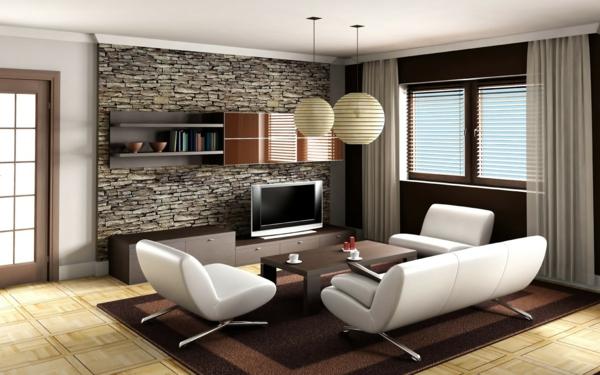hol obzavejdane kamenna stena beli divani