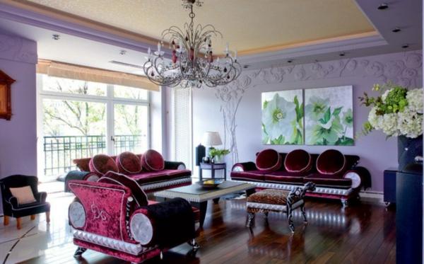hol obzavejdane art deco stil rozovo lilavi mebeli