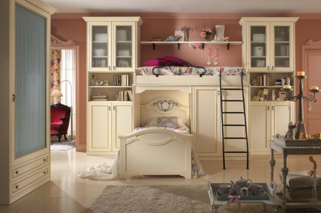 идеи за обзавеждане на детска стая момиче бели мебели