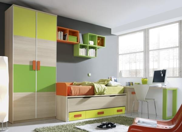 обзавеждане детска стая в жълт зелен цвят