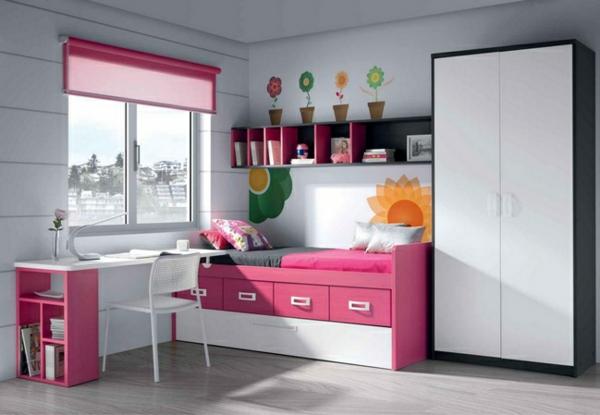 обзавеждане детска стая за момичета в розов и бял цвят