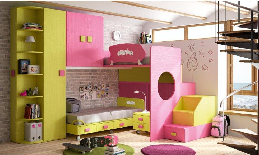 обзавеждане за детска стая за момичета в розово и жълто
