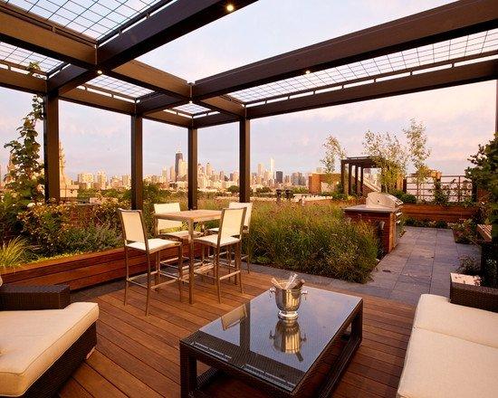 pergola v gradinata idei dizain terasa