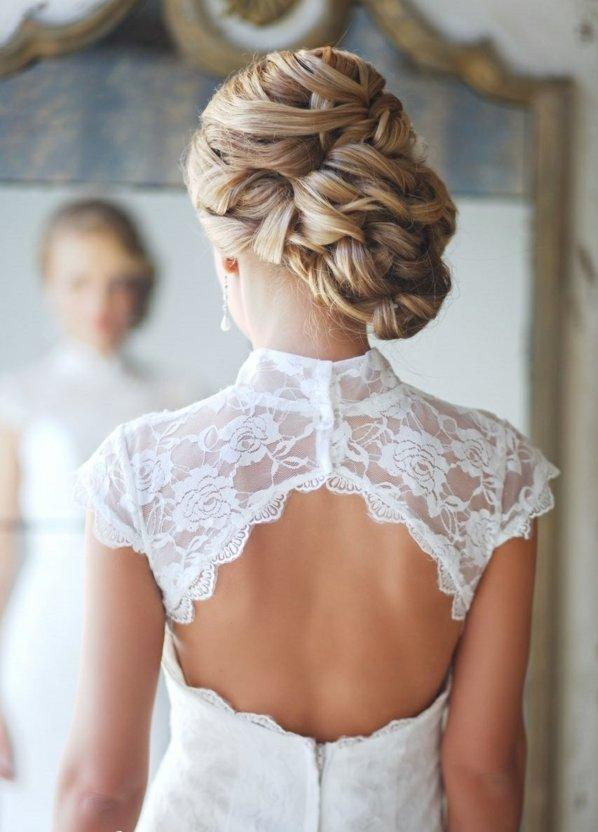 pricheski svatbeni pribrana kosa kato plitka