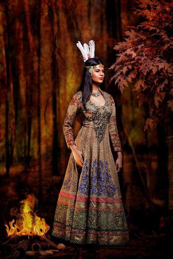 princesi na Disni kato indiiski bulki Pokahontas