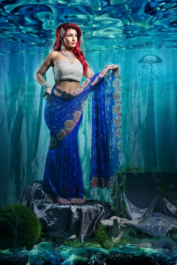 princesi na Disni kato indiiski bulki ariel