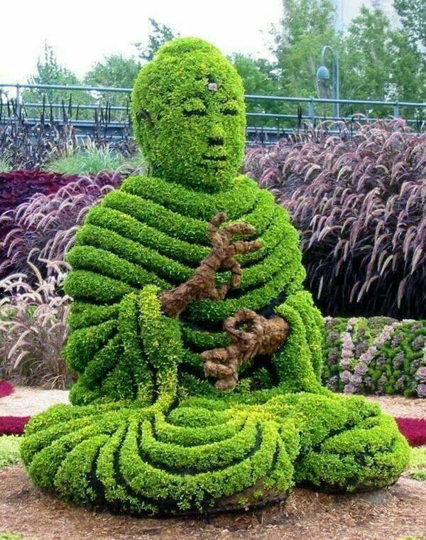 monreal botanicheska gradina figura monah