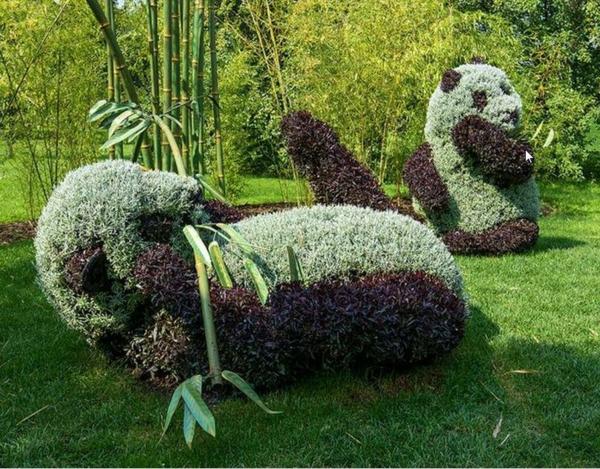 monreal botanicheska gradina figura na panda