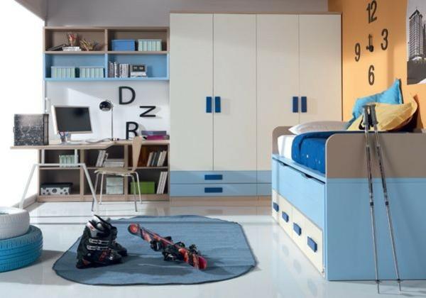 детска стая в синьо и бяло за момчета обзавеждане