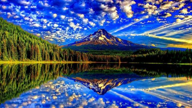 sinq planina otrajenie nebe