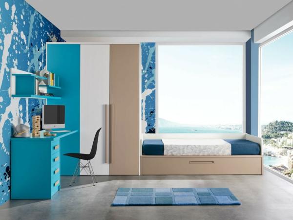 детска стая в синьо за момчета интериор дизайн
