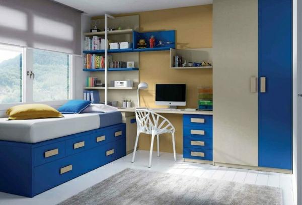 детска стая синьо и бяло за момчета