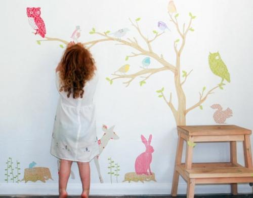 стикери за стена на детска стая момиче