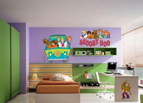 стикери за стена детска стая кола scooby doo