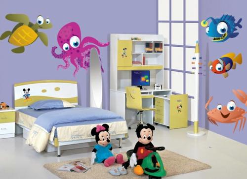 стикери за стена детска стая морски декор мики маус