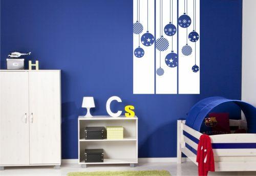 стикери за стена детска стая за момчета синьо бяло