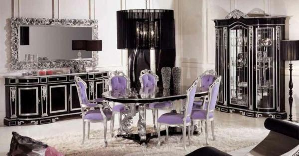 stolove trapezariq klasicheski stil lilava damaska