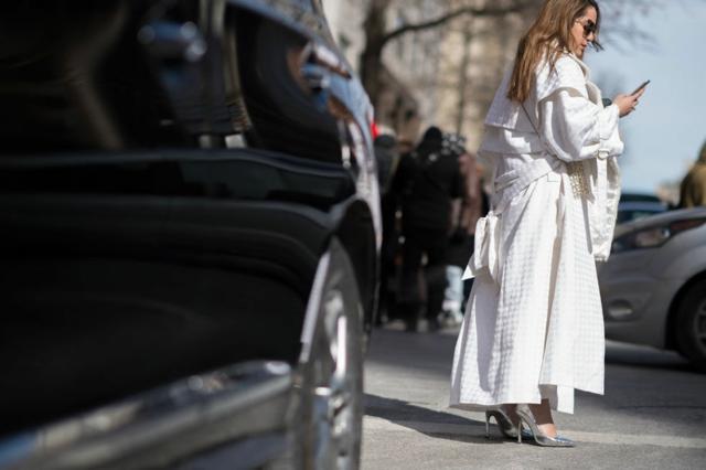 street ot nu iork sedmicata na modata bqlo palto