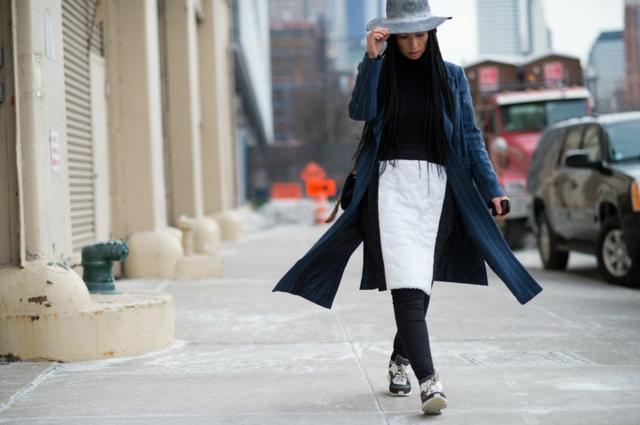 street style ot nu iork sedmicata na modata cherno bqlo