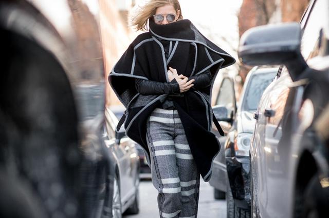 street style ot nu iork sedmicata na modata poncho