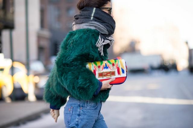 street style ot nu iork sedmicata na modata qke zeleno puh