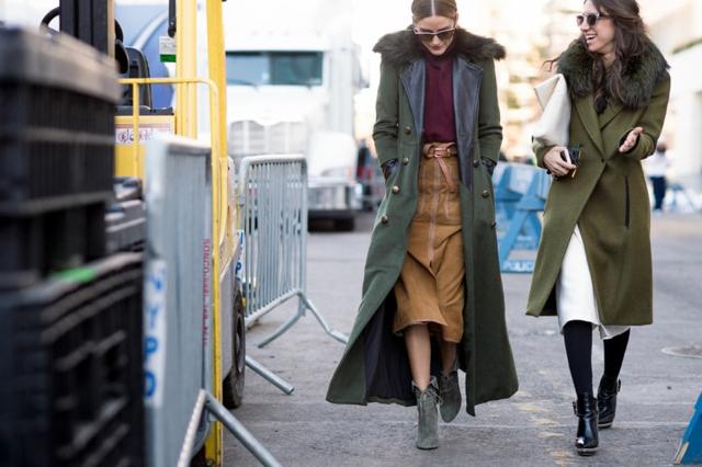 street style ot nu iork sedmicata na modata voinishko zeleno