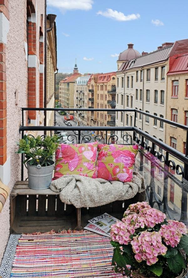 terasa idei romantichna rozovo