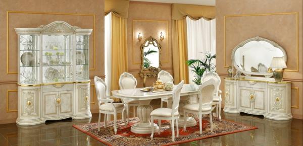 trapezariq stolove beli darvorezba luksozni