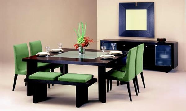 trapezariq stolove moderen stil zeleni