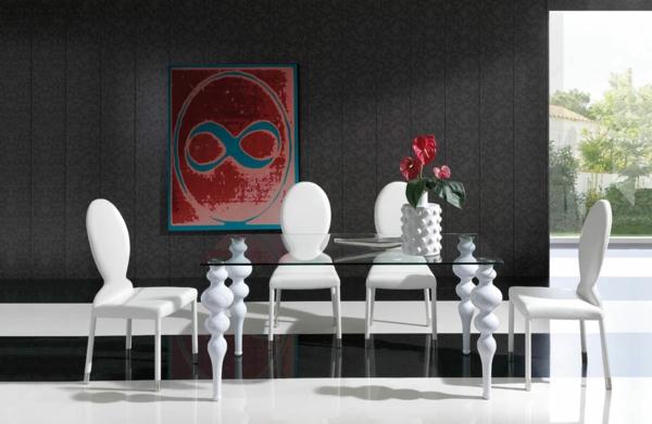 trapezariq stolove moderen stil beli