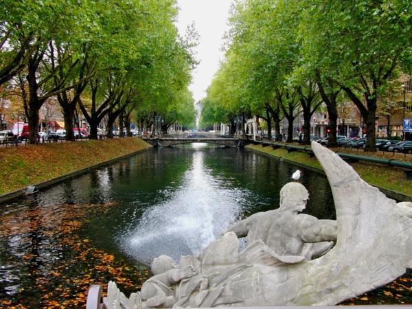 duseldorf reka fontan darveta