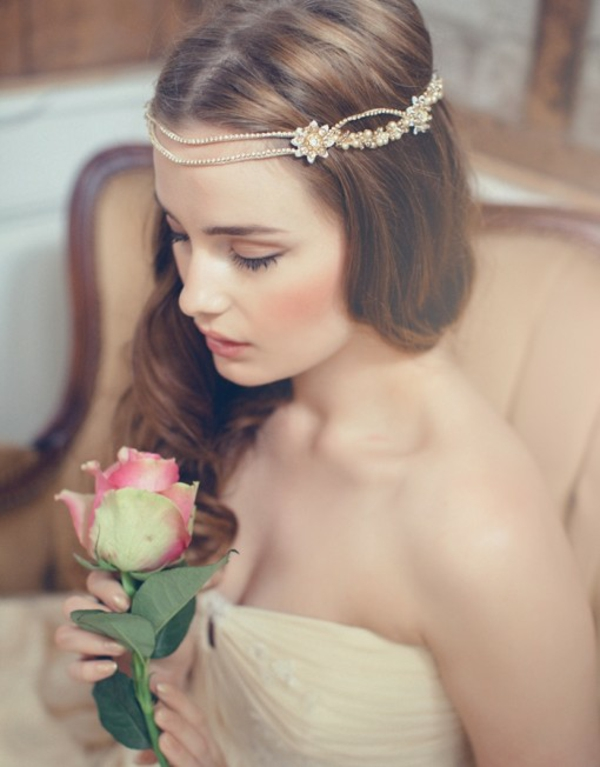 aksesoari kosa venec bulki perli retro