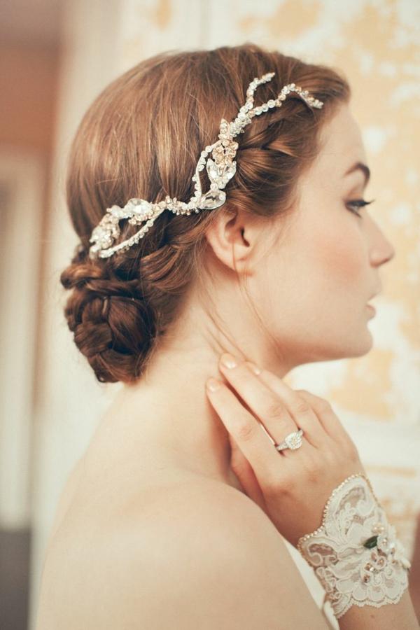 aksesoari za kosa bulki zlato kristali retro