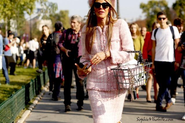 anna dello russo street style chanel