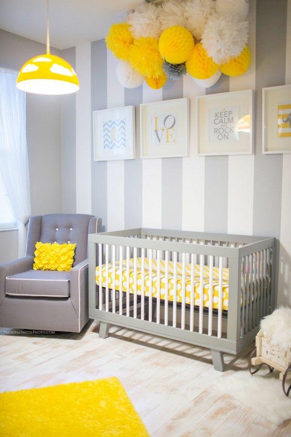цветове за бебешка стая момче жълто сиво