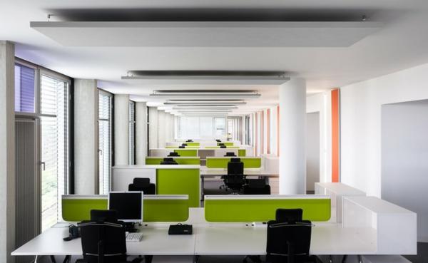 ofis moderen bqlo zeleno sgrada arhitektura